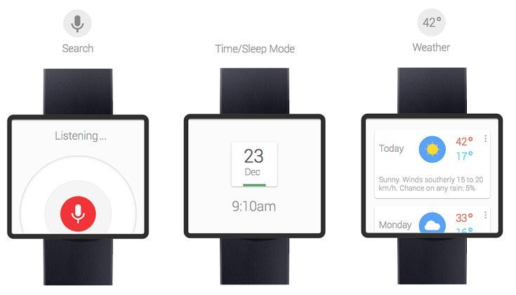 Conceptos de diseño del Smartwatch de Google
