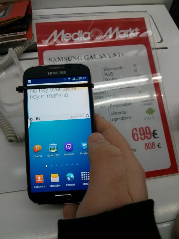 Análisis corto del Samsung Galaxy S4