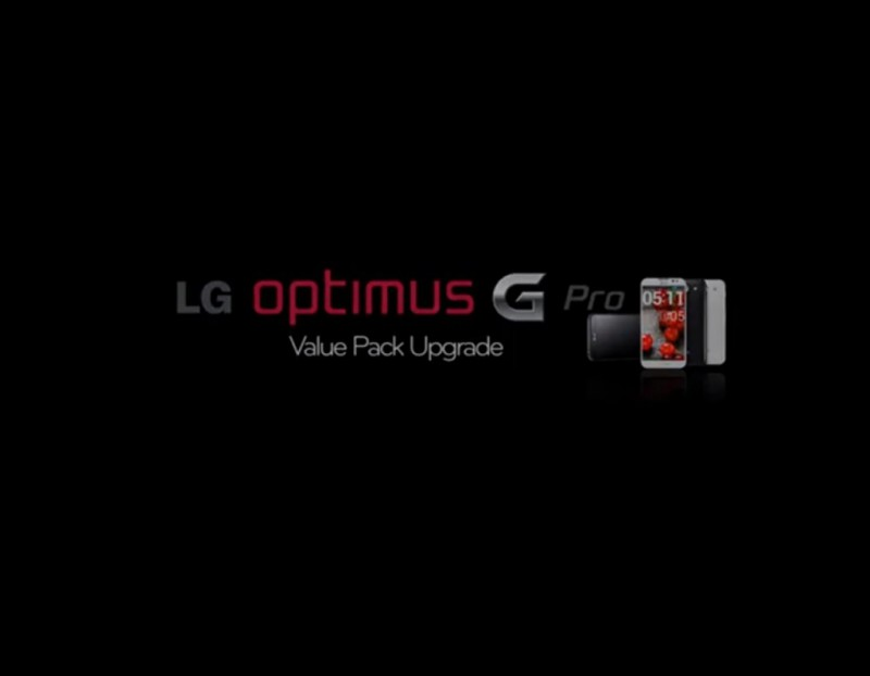 """Value Pack"" para LG Optimus G Pro a partir del 12 de abril"