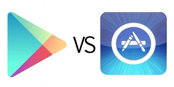 Google Play le come terreno a la Appstore de apple, pero esta sigue mandando.