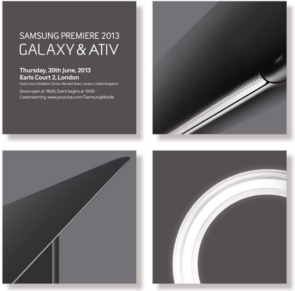 Samsung Premiere 2013 Galaxy y Ativ para el 20 de junio