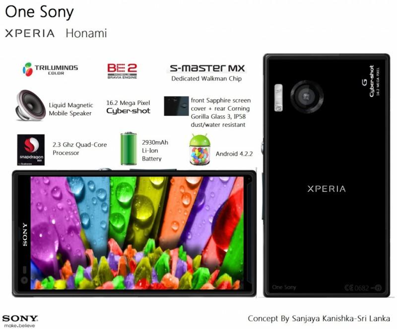 Sony Honami se lanzará como Sony Xperia Z1