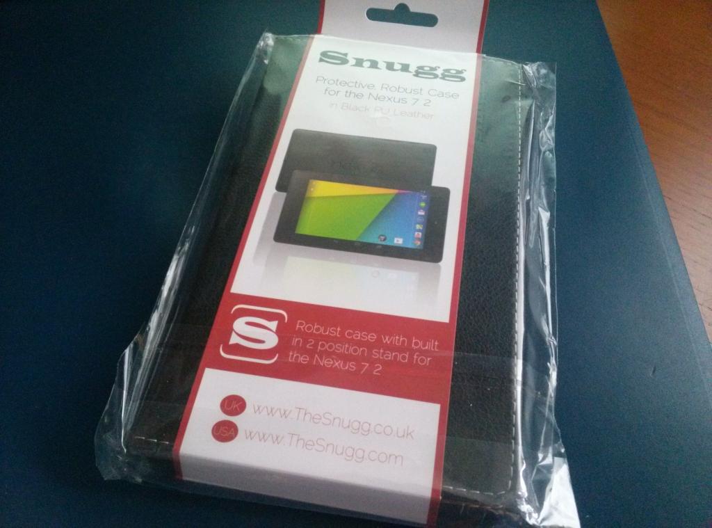 The Snugg: Funda de gran calidad Snugg de cuero negro para Nexus 7 2013