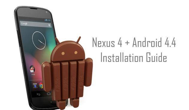 Tutorial instalación Android 4.4 KitKat en Nexus 4 (KRT16O)