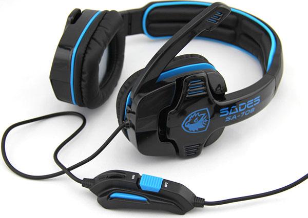 Cascos gaming Sades SA708, pepinacos por Gearbest.com