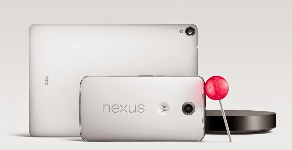 Los Nexus 6, Nexus 9 y Nexus Player presentados junto con Android 5.0 Lollipop