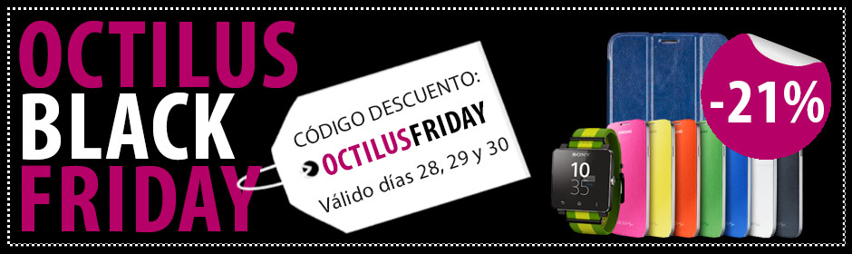 Black Friday también en Octilus los días 28, 29 y 30 de noviembre