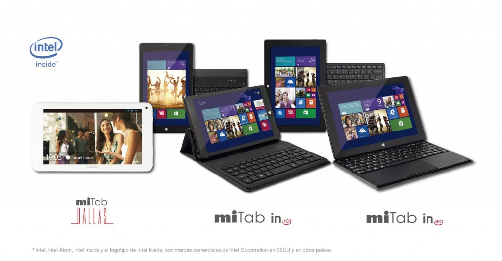 Wolder completa su familia miTab con tres tablets con procesadores Intel