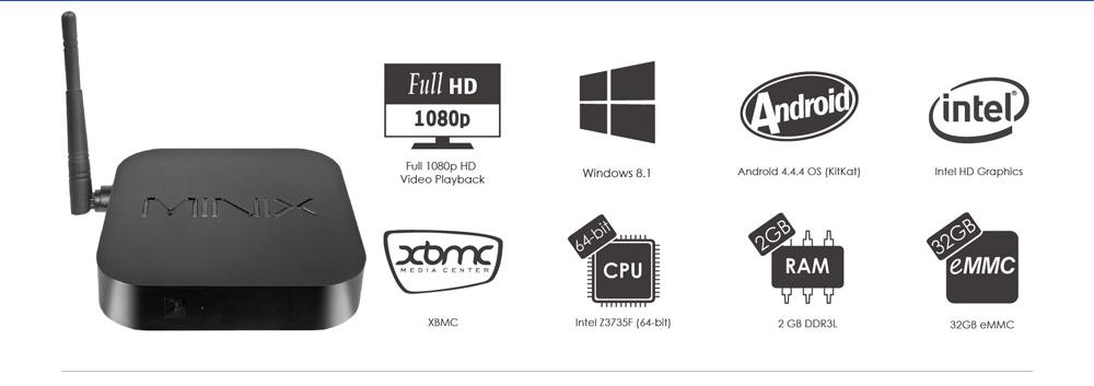 MINIX NEO Z64, 2 modelos, 2 sistemas operativos…