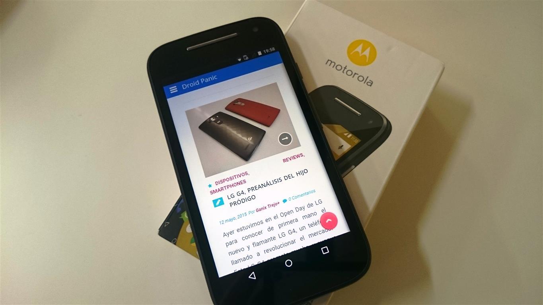 [Analisis] Motorola Moto E 4G, El rey de la gama baja