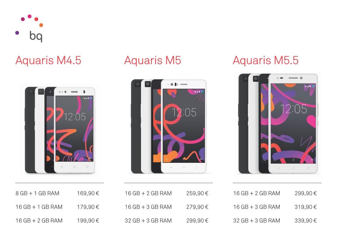 ¡Ya era hora! Precios, especificaciones y disponibilidad de la gama Aquaris M de BQ