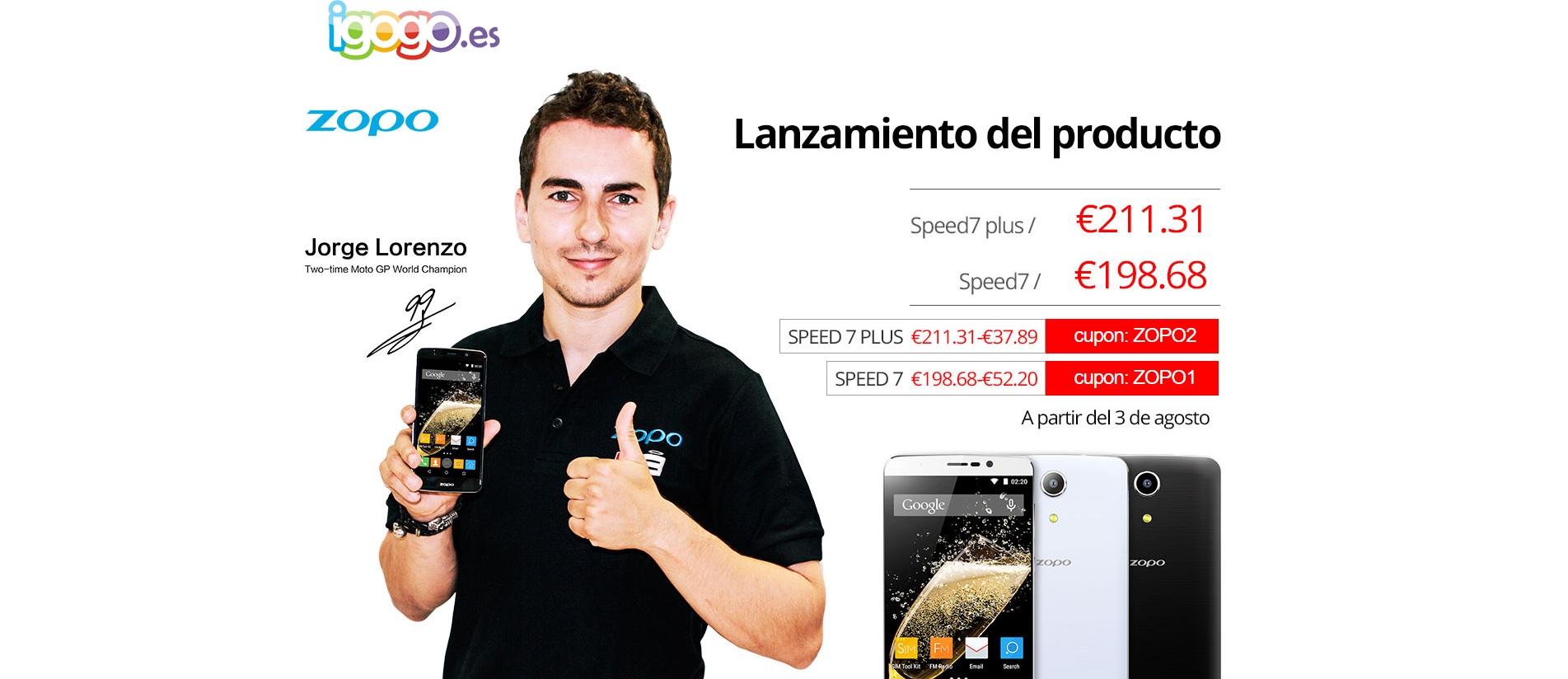 Zopo Speed 7 y Speed 7 Plus al mejor precio en IGOGO