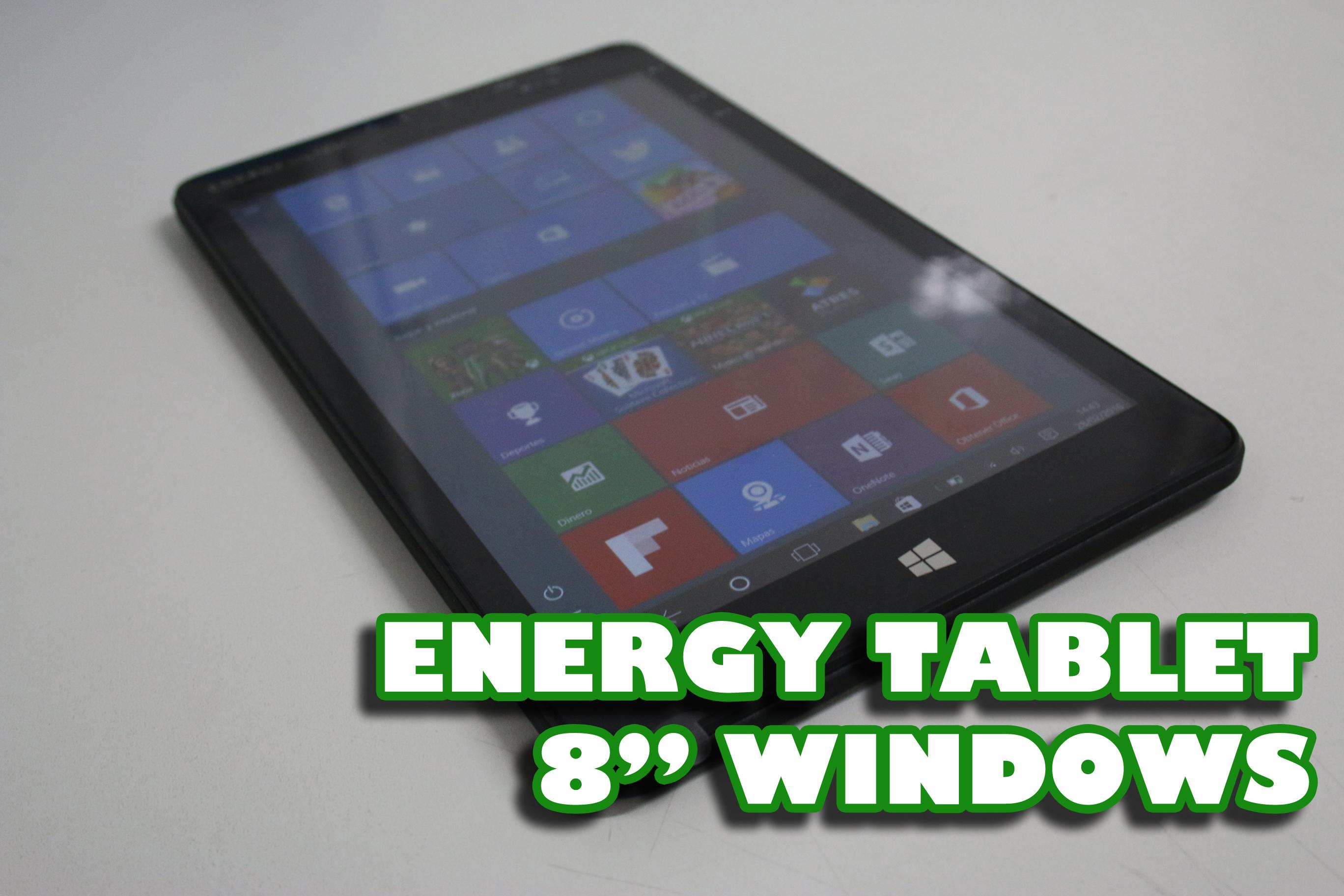 Energy Tablet 8″ Windows, buena tablet para productividad y ocio
