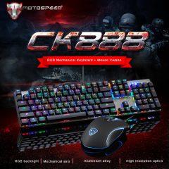 Venta flash del combo del teclado mecánico gaming Motospeed CK888 más ratón