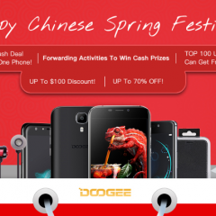 Promociones de DOOGEE Spring Festival de hasta 100$ y 70% de descuentos