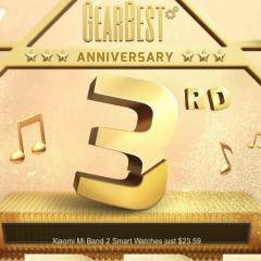 Ya está aquí la promoción real de Gearbest por su 3er aniversario