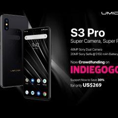 UMIDIGI S3 PRO Llega a Indiegogo con Presentación Oficial y un Precio Especial de 269 dólares