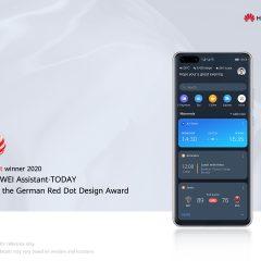 HUAWEI Assistant TODAY recibe el reconocido premio Red Dot 2020