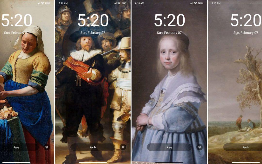 Fondos de pantalla limitados Rijksmuseum para MIUI