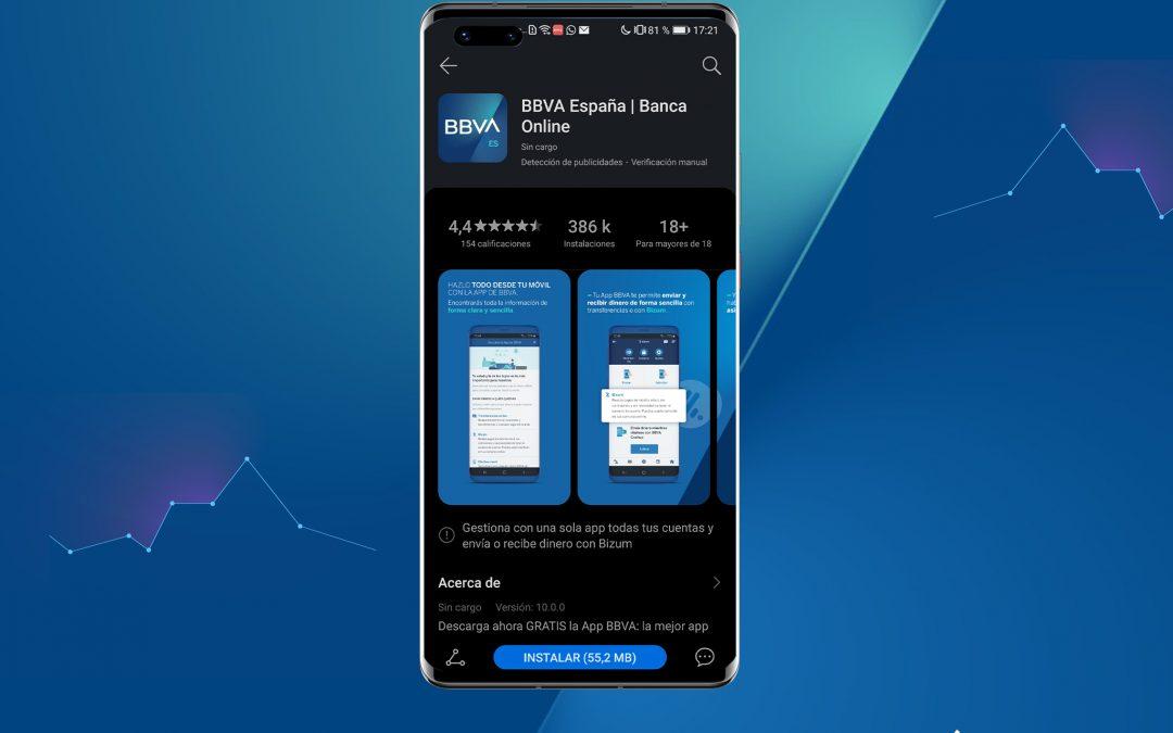 La App de BBVA, disponible a través de AppGallery