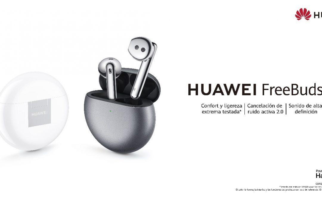 HUAWEI FreeBuds 4 con ANC y adaptación abierta